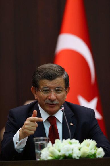 Turkijos premjeras Ahmetas Davutoglu