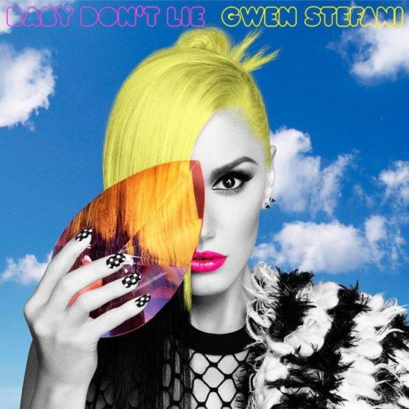 "Gwen Stefani singlo ""Baby Don't Lie"" viršelis"