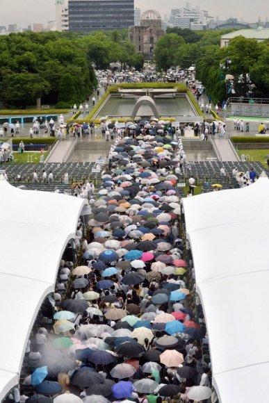 Paminėtos atominio bombardavimo Hirošimos mieste 69-osios metinės