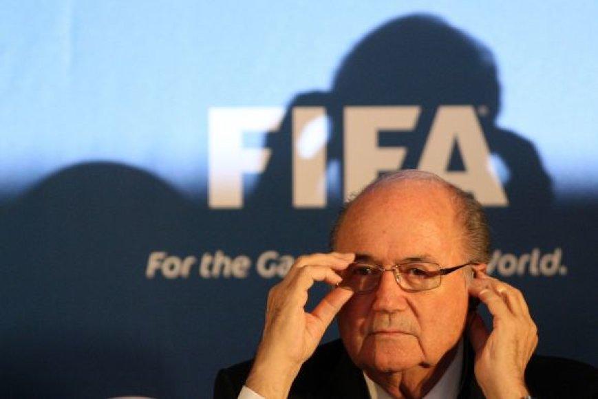 FIFA prezidentas S.Blatteris