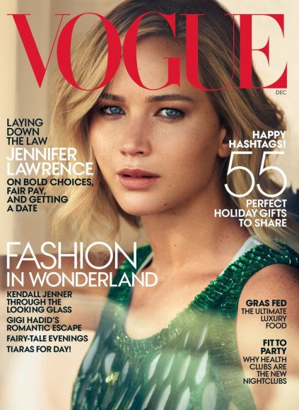 """Vogue"" viršelis/Mikael Jansson nuotr./Jennifer Lawrence"