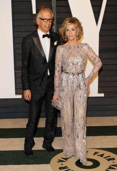 Vida Press nuotr./Jane Fonda ir Richardas Perry
