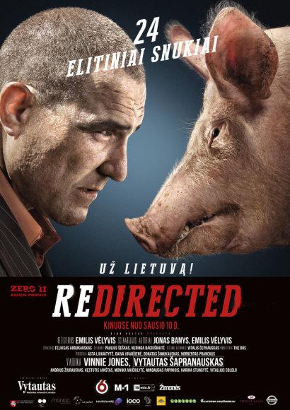 """Filmo """"Redirected / Už Lietuvą!"""" plakatas"""