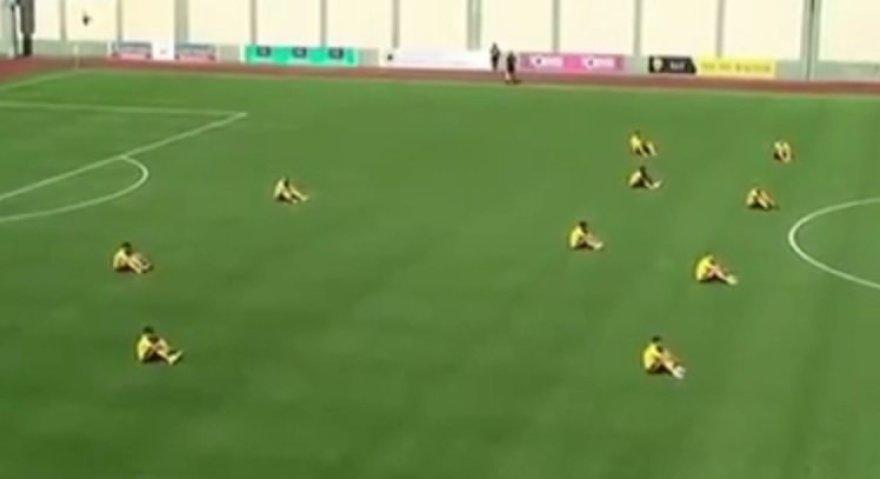 Azerbaidžano futbolininkų šou