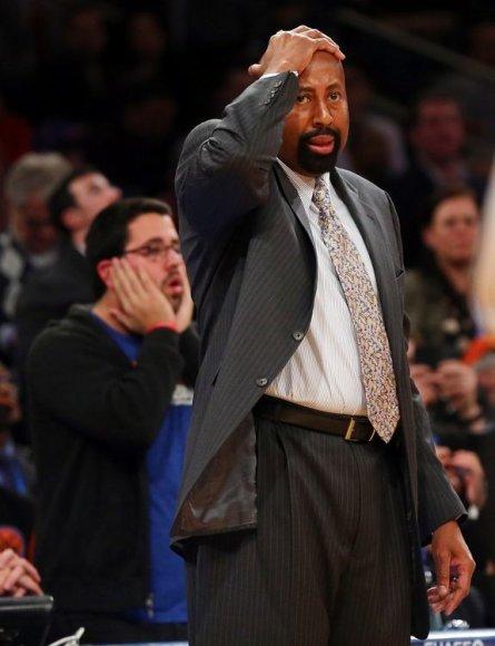 """Niujorko """"Knicks"""" treneris Mike'as Woodsonas"""
