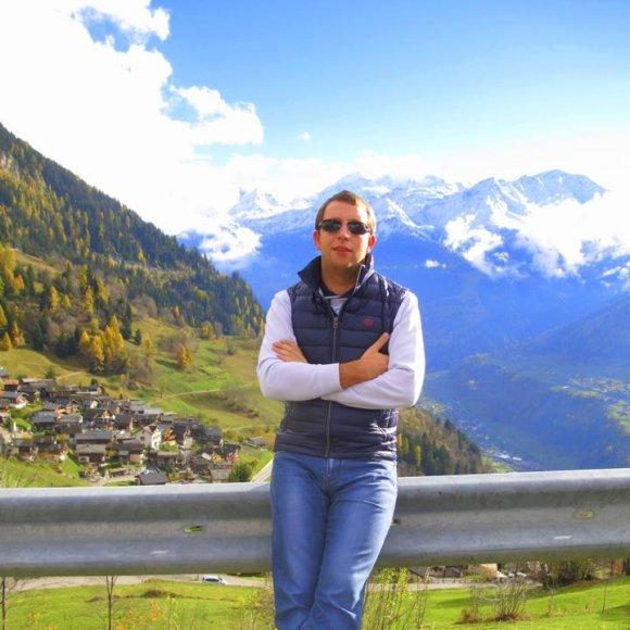 Kalnuose Šveicarijoje