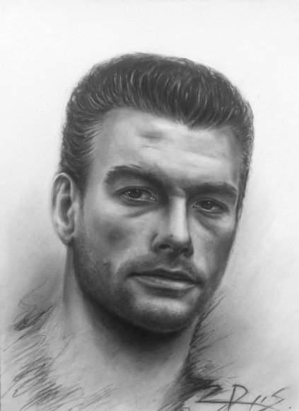 Ryčio Songailos pieštas Jeano Claude'o Van Damme'o portretas