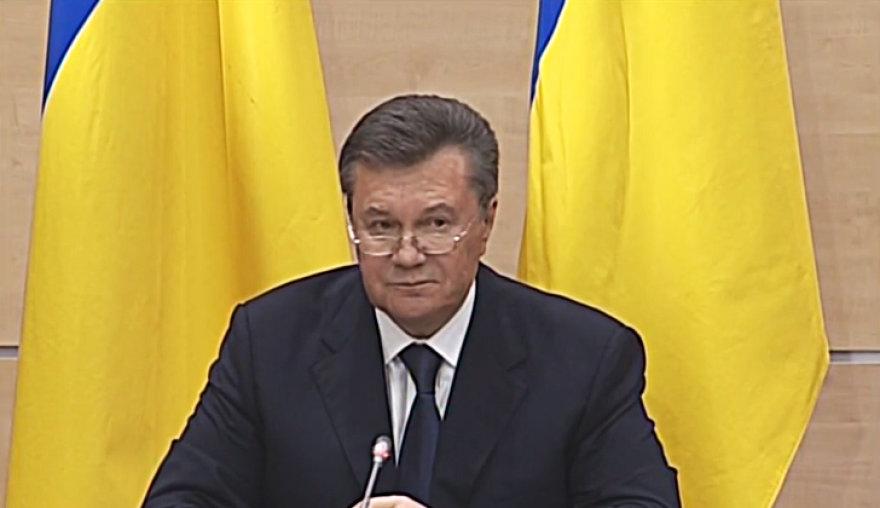 Viktoras Janukovyčius spaudos konferencijoje