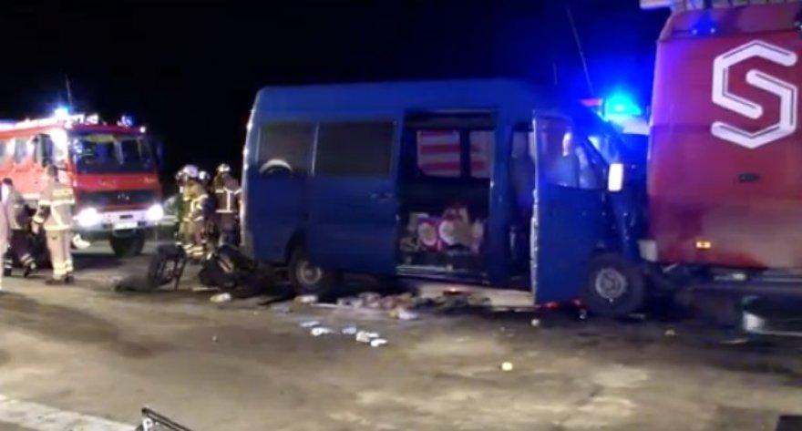 Šilutiškio autobusiukas pateko į autoavariją Vokietijos automagistralėje A9