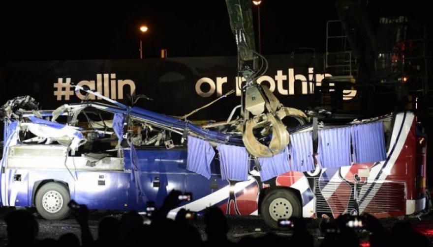 Sudaužomas Prancūzijos futbolo rinktinės autobusas