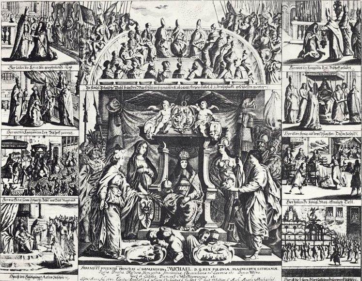 Mykolo Kaributo Vyšnioveckio karūkavimas Lenkijos karaliumi
