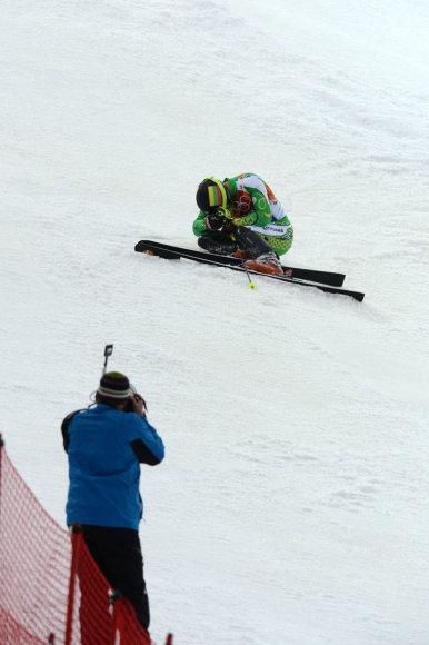 Rokas Zaveckas nebaigė slalomo varžybų