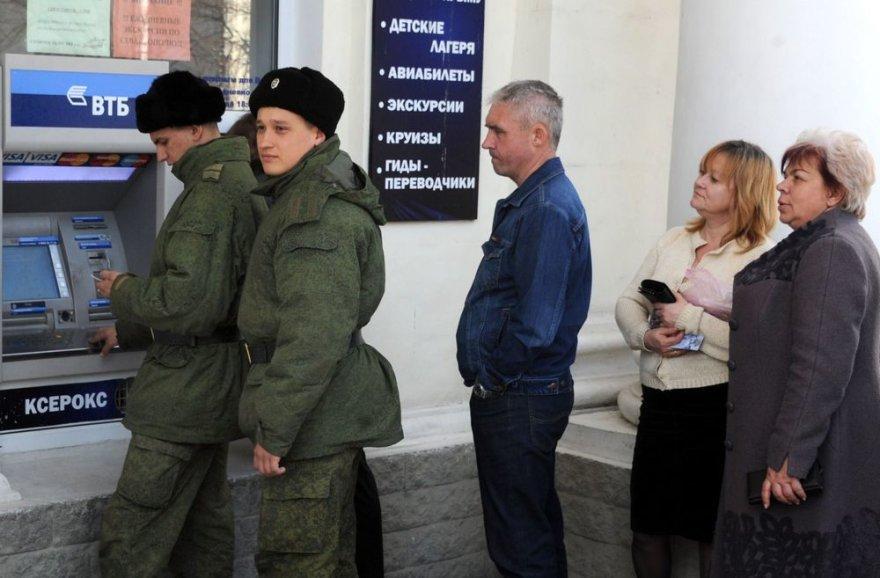 Prie bankomato Rusijoje