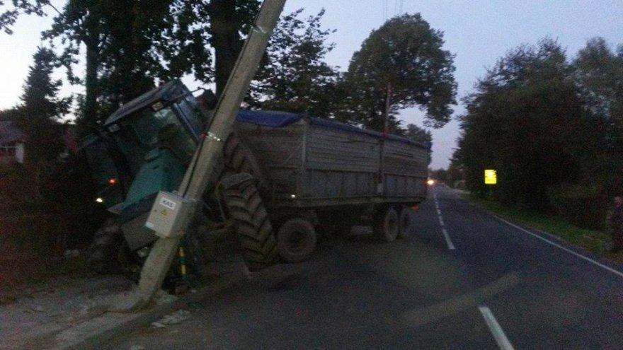 Traktoriaus avarija Krekenavoje