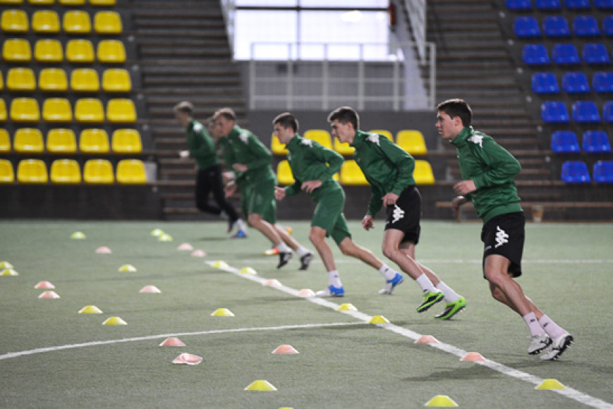 """""""Žalgirio"""" futbolininkai rengiasi naujiems iššūkiams"""