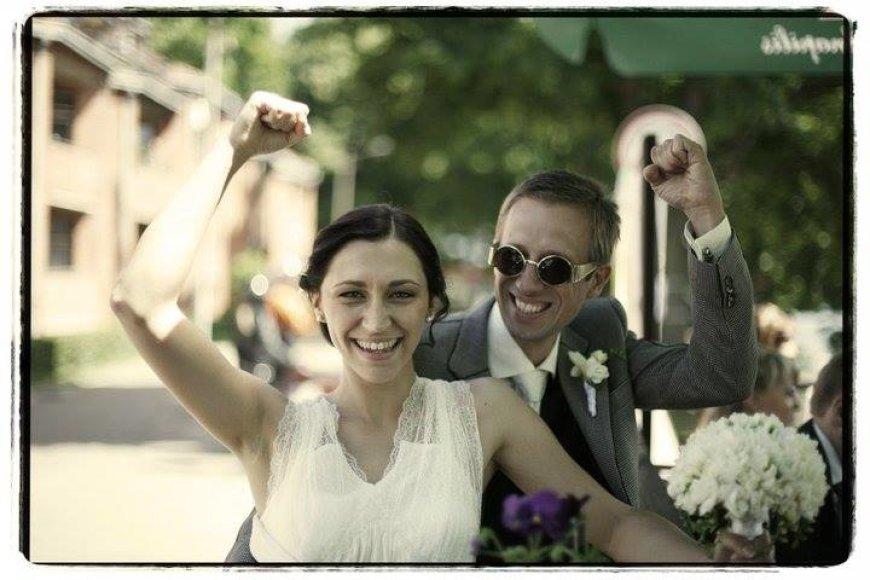 Lino Adomaičio vestuvių akimirka