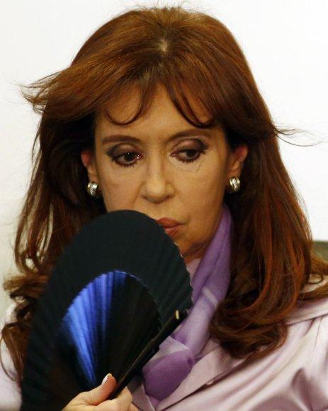 Argentinos prezidentė Cristina Kirchner