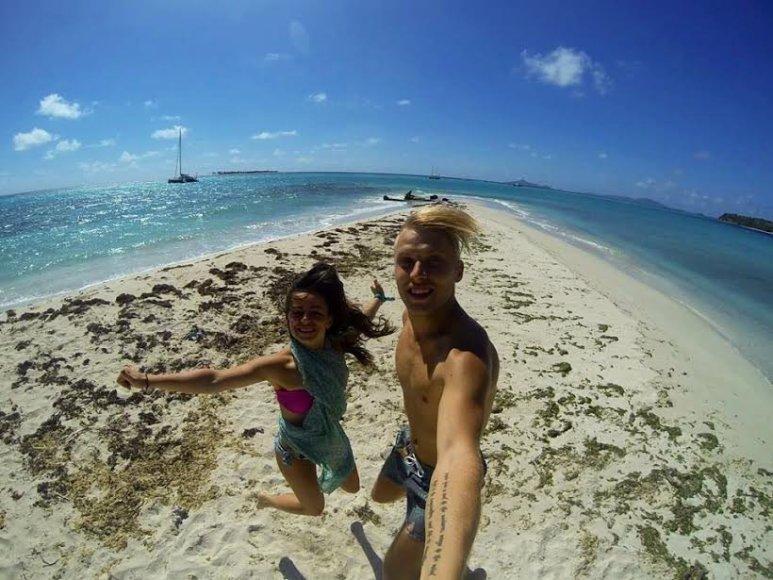 Justinos ir Tado Gaučų medaus mėnuo Karibuose