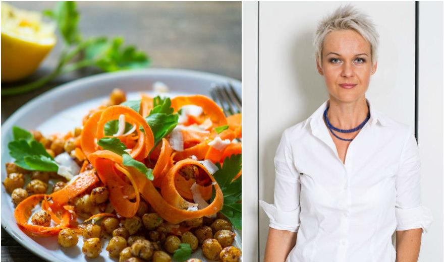 Nidos receptas: skrudintų avinžirnių ir morkų salotos