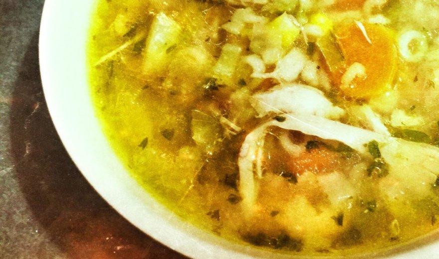 Greita ir soti vištienos sriuba su kuskusu