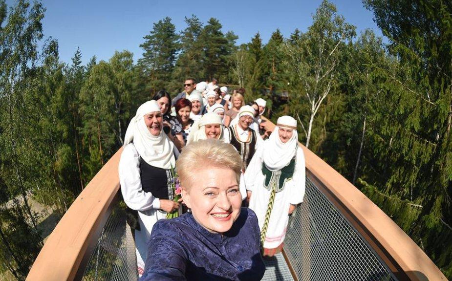 Dalia Grybauskaitė Anykščiuose