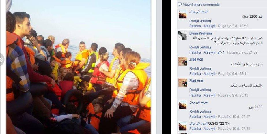 Pabėgėlių derybos su kontrabandininkais