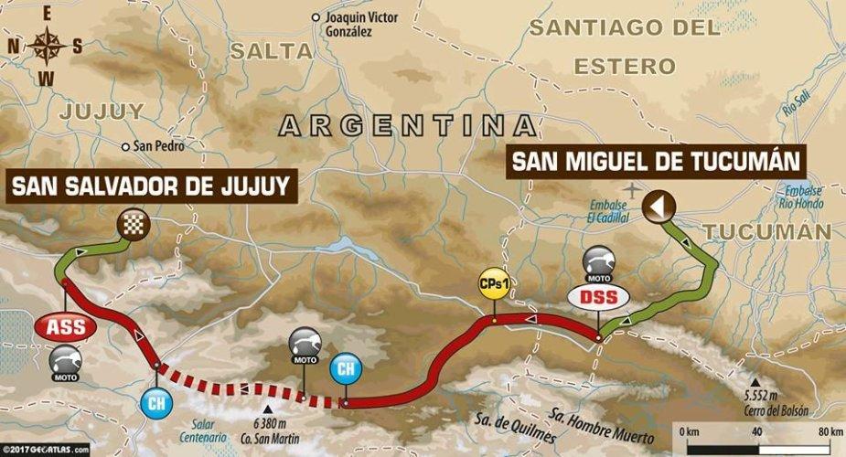 Trečias Dakaro etapas iš Tukumano į Chuchujų