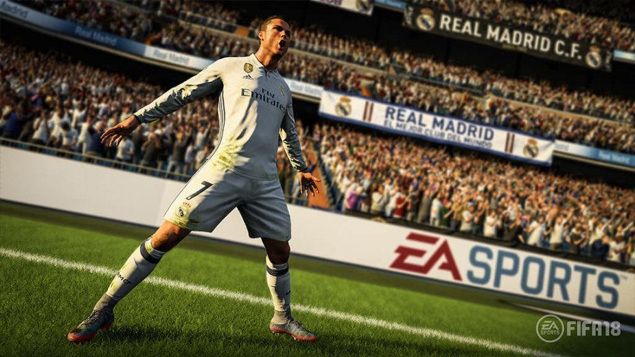 """Žaidimo """"FIFA 18"""" kadras"""