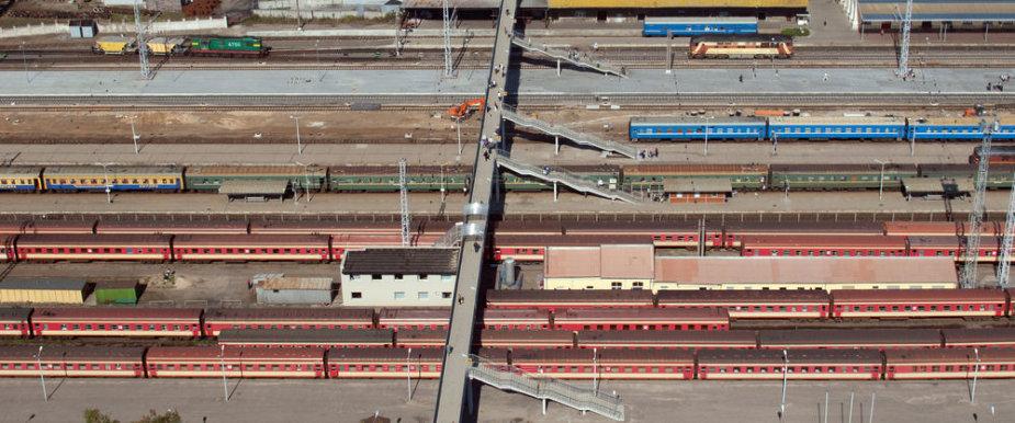 Vilniaus geležinkelio stotis iš paukščių skrydžio