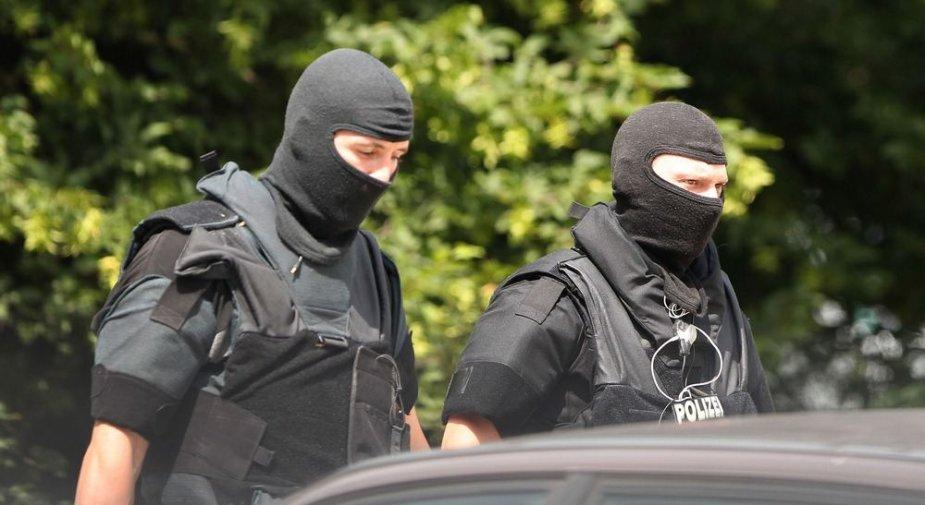 Vokietijos policininkai įvykio vietoje