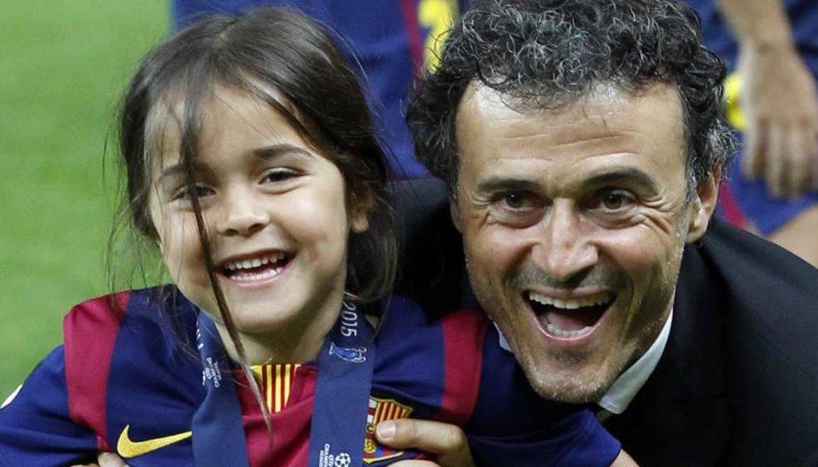 Luisas Enrique neteko 9 metų dukros.