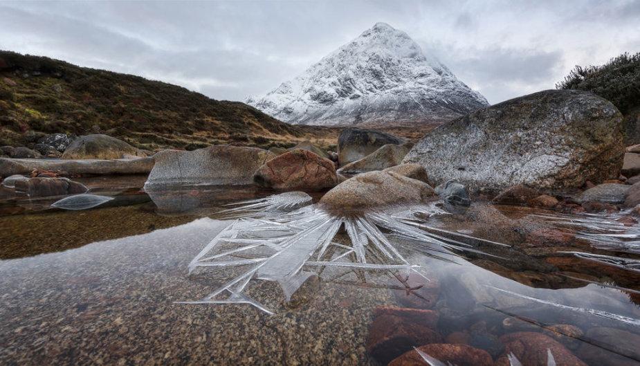Ledo smaigai, Glenkou, Škotija. Pete Rowbottom, konkurso nugalėtojas