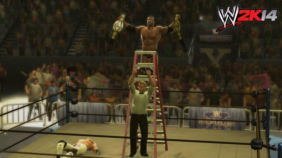 """Imtynių žaidimo """"WWE 2K14"""" kadras"""