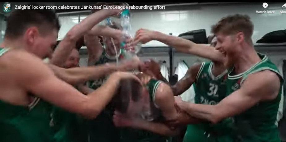Paulius Jankūnas buvo išmaudytas komandos draugų.