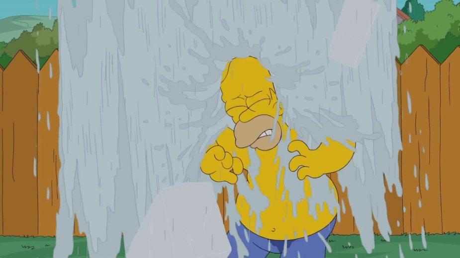 Houmeris Simpsonas priima ledinio vandens iššūkį
