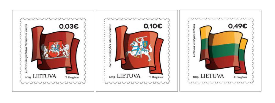 """Išleidžiami nauji pašto ženklai iš serijos """"Lietuvos valstybės simboliai"""""""