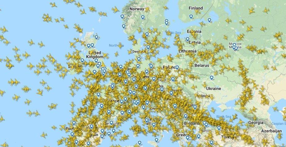 Skrydžiai Europoje
