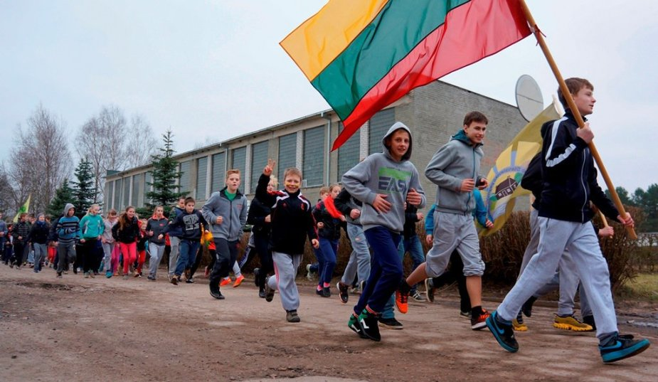 Bėgimas aplink Ruklos miestelį – skirtas Lietuvos Nepriklausomybės atkūrimo dienai paminėti