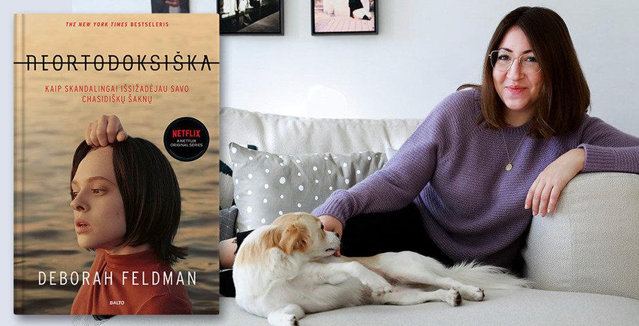 """""""Neortodoksiškos"""" autorė Deborah Feldman ir knygos viršelis"""