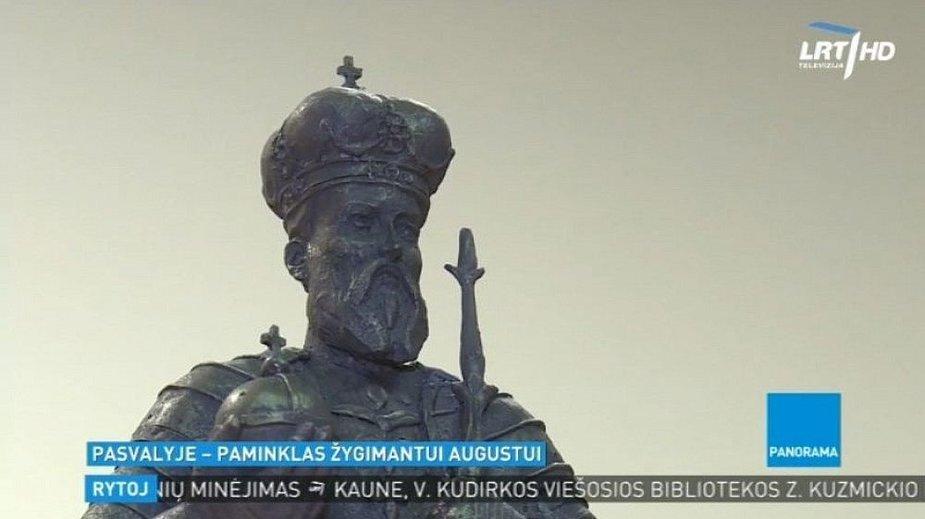 Pasvalyje statomas paminklas kunigaikščiui Žygimantui Augustui.