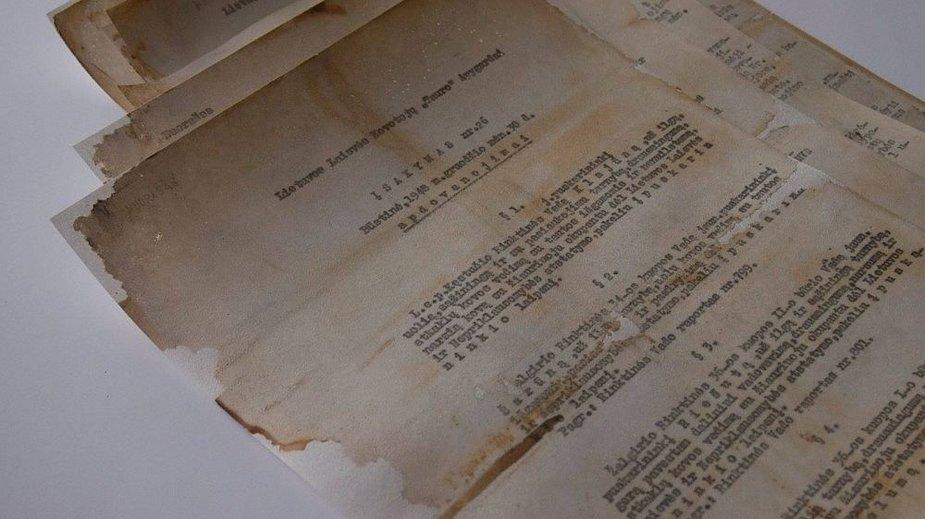 Restauruoti Tauro apygardos partizanų dokumentai stebina raštvedybos kultūra.