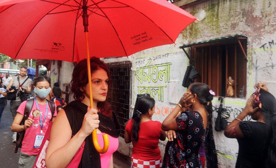 Indijoje – eitynės už prostitučių teises.