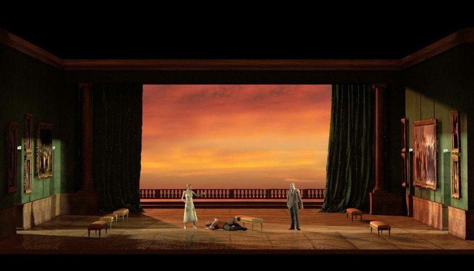 "Dailininko Rudy Sabounghi operos ""Ernani"" scenografija"