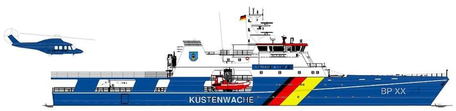 Klaipėdoje statomas pakrančių apsaugos patrulinis laivas.