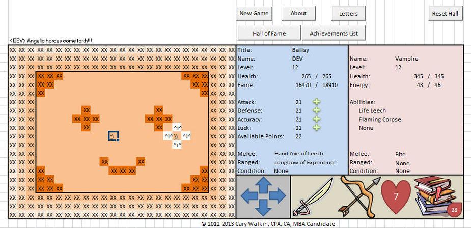 """Buhalteris """"Excel"""" skaičiuokle sukūrė kompiuterinį žaidimą"""