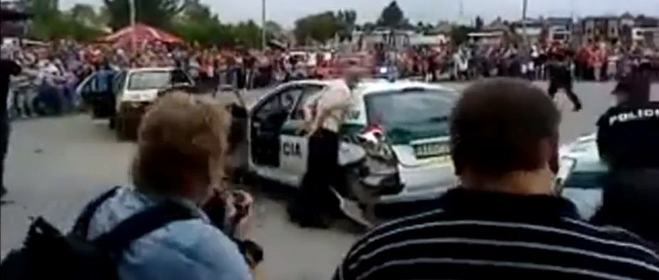 Nepavykęs policijos pasirodymas Slovakijoje