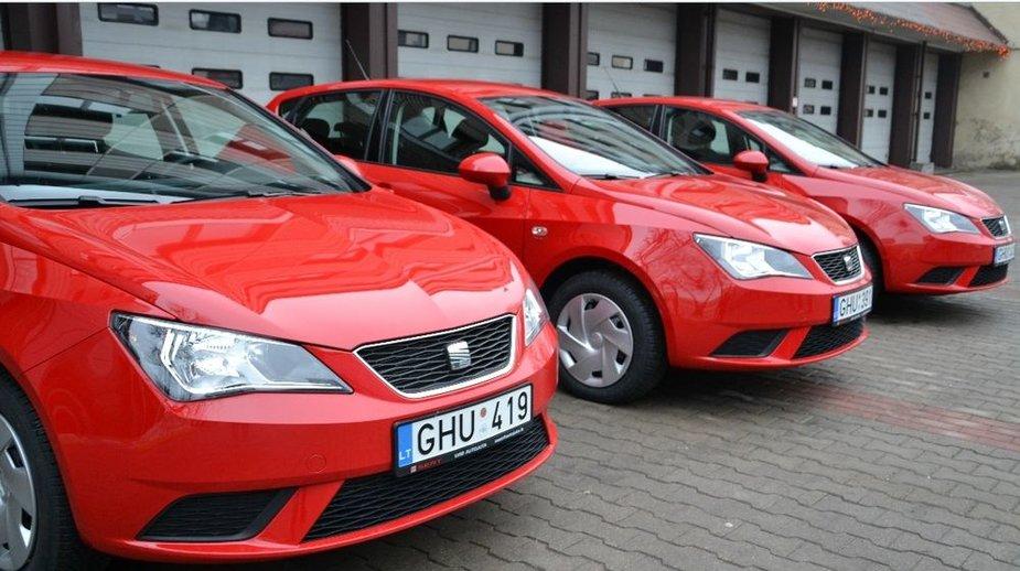 """Priešgaisrinės apsaugos ir gelbėjimo departamento įsigyti """"Seat Ibiza"""""""