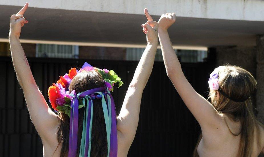 """""""Femen"""" protestuotojos Madride"""