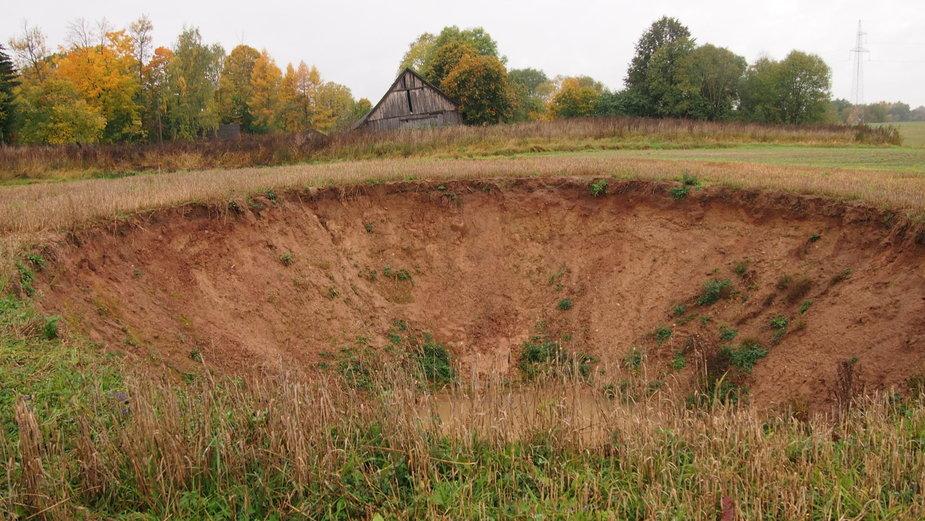 Lietuvos geologijos tarnybos nuotrauka/Smegduobė Šlepščių kaime