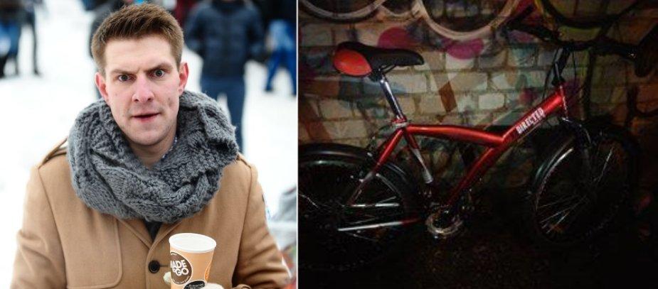 Mantas Stonkus ir dingęs jo dviratis